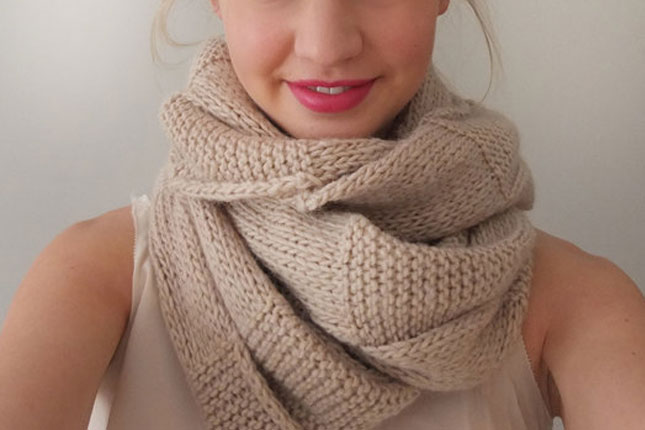 Simple Snood Knitting Pattern : 13 Chunky Scarves You Can Actually Make Brit + Co