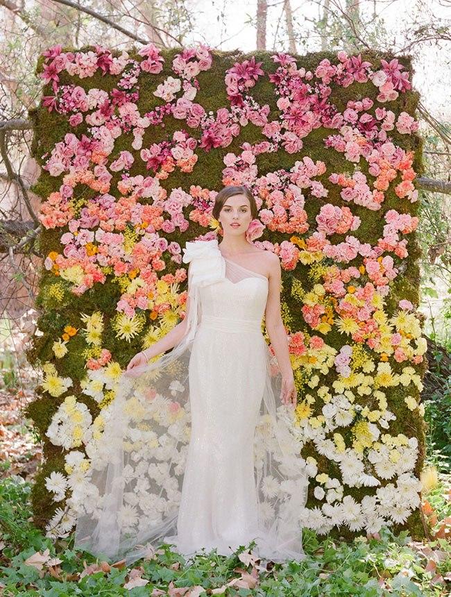 Kim Kardashian Flower Wall