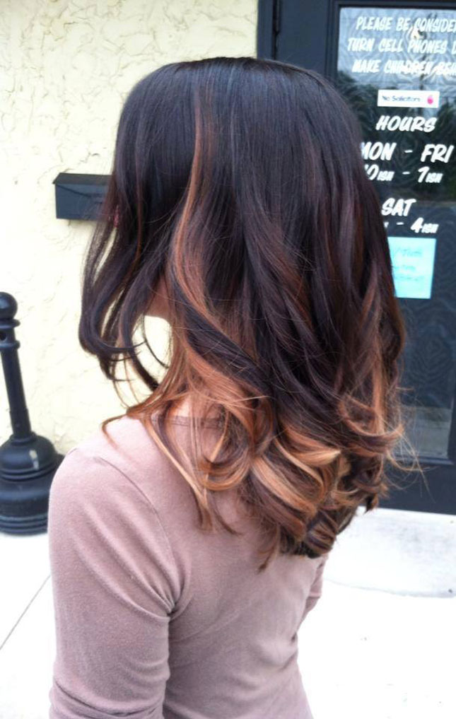 14. Pink Accents : Balayage is SO fun for playing with interesting ...