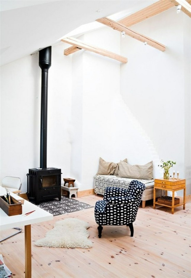 13 wood stove decor ideas for your home brit co Living room ideas with stoves