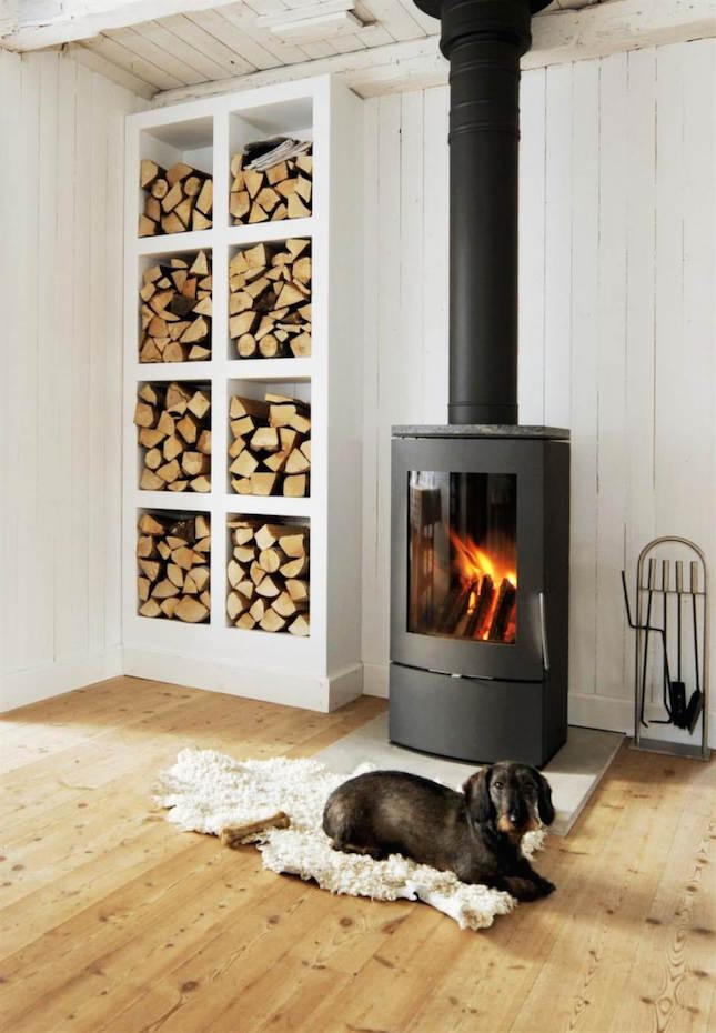 wood stove small room