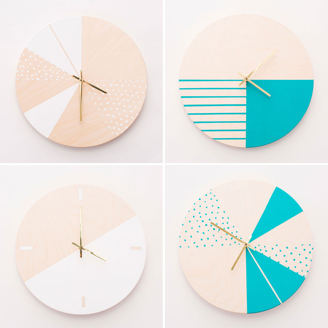How To Make Gorgeous Wooden Diy Wall Clocks Brit Co