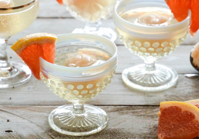 Grapefruit, Champagne and Sorbet Floats : For a citrusy boost in ...