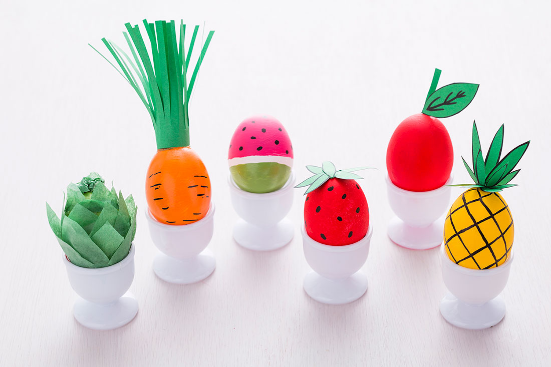 How To Decorate Easter Eggs Look Like Fruits And Veggies Brit