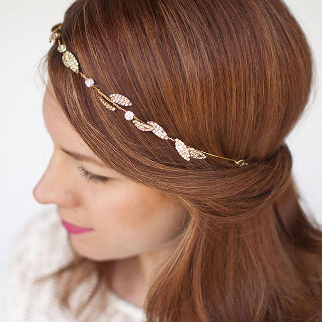 how to wear a headband with fine hair