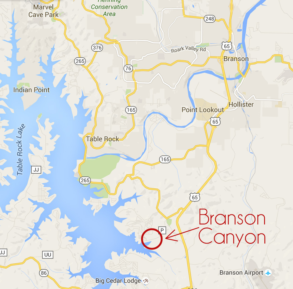 Vacation Home In Branson - Big cedar lodge map in the us