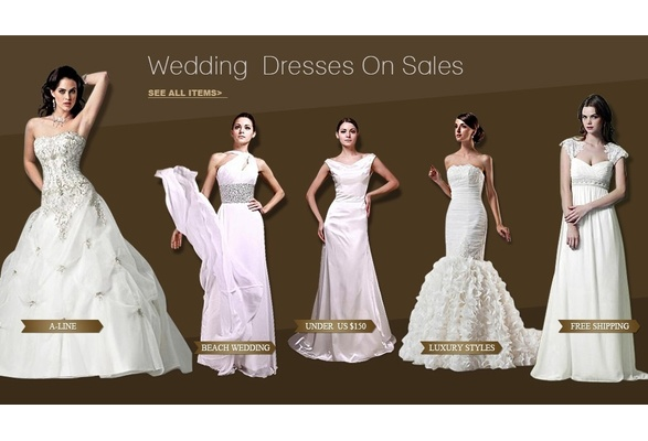 wedding dresses on sales