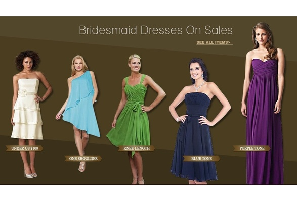 bridesmaid dresses on sales
