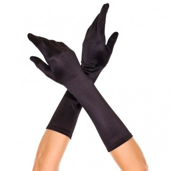 Elbow Length Satin Gloves Halloween Cosplay Costume Accessories