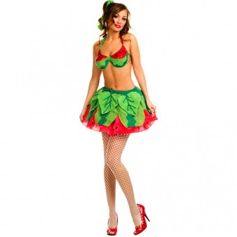 Fun Flirty Playful Sexy Two Piece Watermelon Princess Outfit Costume Cosplay Halloween