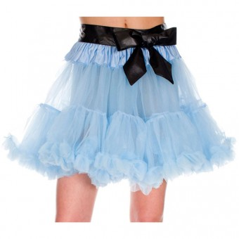 Ruffle Trim Tulle Including Bow Tie Belt Petticoat Skirt Dress Support Costume Cosplay Accessory