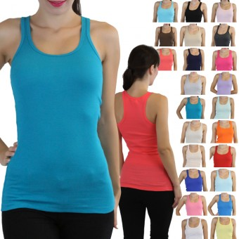 Essential Ribbed Racerback Tank Top