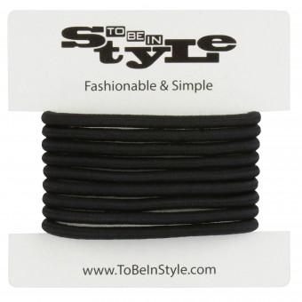 Basic Black Durable Hair Ties