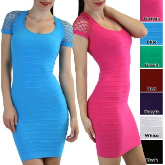 Seamless Body Con Fishnet Dress