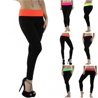 Foldover Essential Long Length Ankle Leggings Tight Pants