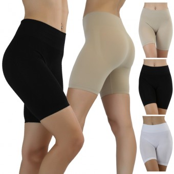 High-Waisted Tummy Control Seamless Briefs - One Size