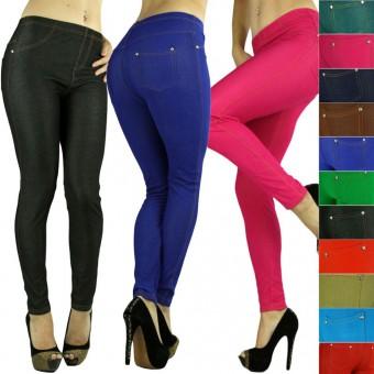 Comfy Soft Seamless Stretch Knit Skinny Jean Legging Diamond Pants