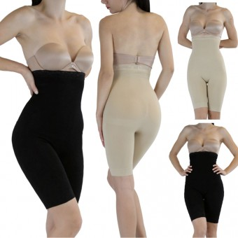 New Stomach High Waist Lace Top Body Shaper Leg Firm Control Fajas Girdle