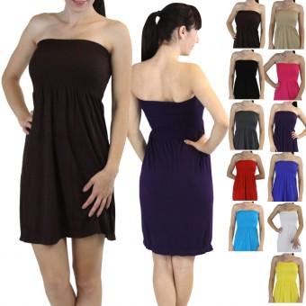 Seamless Smocked Summer Sleeveless Tube Dress