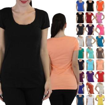 Scoopneck Short Sleeve T-Shirt