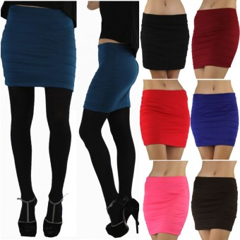 Soft Knit Bandage Style Fitted Skirt