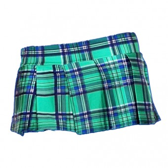 Super Short Sexy Plaid Color Pleated Schoolgirl Skirt Costume Cosplay Accessories