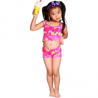 Daisies Children One Piece Swimdress