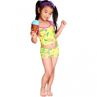Hawaiian Dancer Children One Piece Swimdress