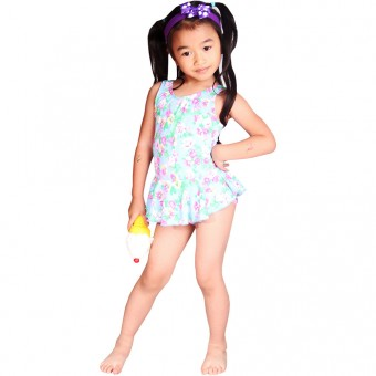 Little Daisies Children One Piece Swimdress