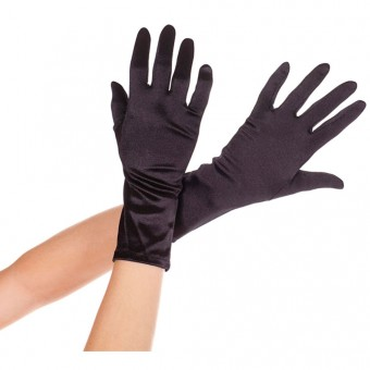 Wrist Length Satin Gloves Halloween Cosplay Costume Accessories