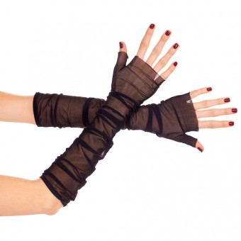 Soft Mesh Fingerless Gloves Halloween Cosplay Costume Accessories