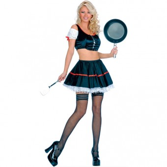Hot Seductive Sexy Vintage Housewife Outfit Costume Cosplay Halloween