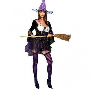 Naughty Evil Hot Vixen Sexy Purple Witch Costume Halloween Costume Halloween Costume Cosplay
