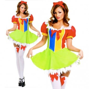 Cute Fun Flirty Cute Fun Flirty Vinyl Fairy Princess Dress Costume Cosplay Halloween