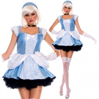 Sexy Enchanting Princess Costume w/ Head Band Gloves Neck Piece Halloween Costume Cosplay