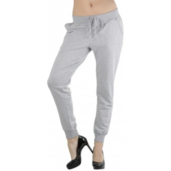 Women's Solid Print French Terry Jogger Pants