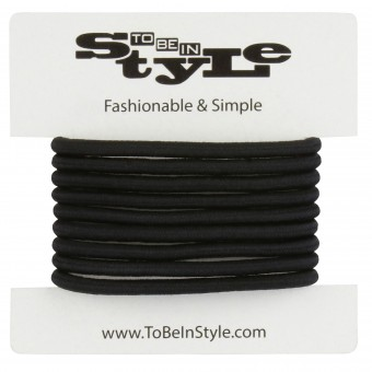 Basic Black Durable Hair Ties