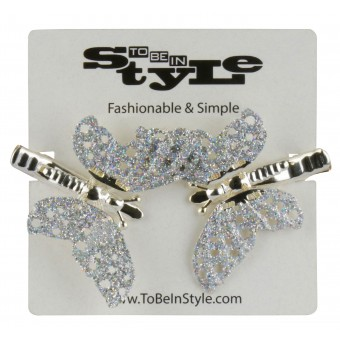 Gorgeous Crystal Butterfly Hair Clips