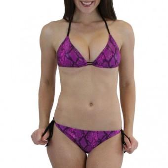 Cobra Skin Double Straps Bikini