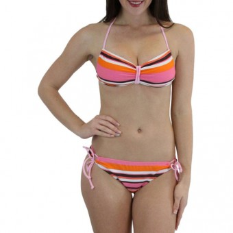 Stripes Bandeau Bikini