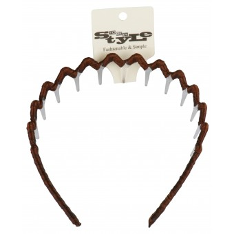 Basic Brown Hairband with Teeth