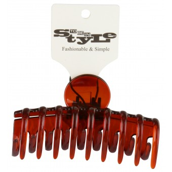 Clear Brown Jaw Style Hair Clip
