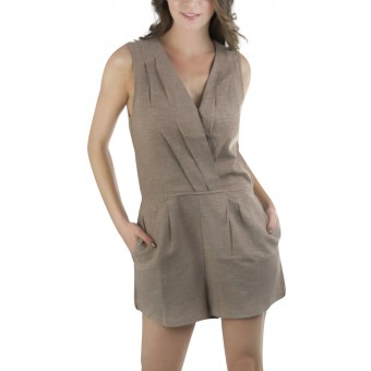 Women's Sleeveless Linen Romper