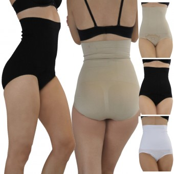 Seamless High Waisted Brief Body Shaper - One Size