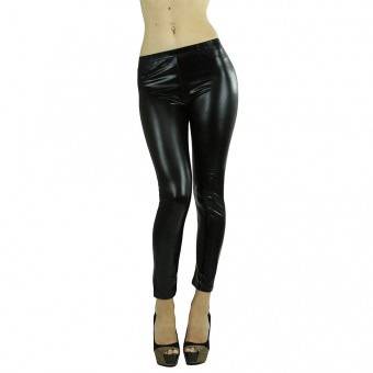 Sexy Faux Leather Liquid Wet Look Leggings Pants