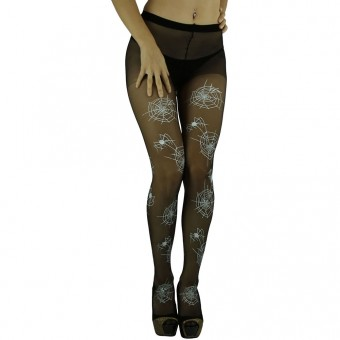 ToBeInStyle Women's Halloween Spiderweb Stocking Pantyhose - One Size