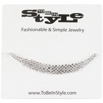 Silver-Toned Brooch Style Necklace