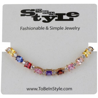 Fashion Multigem Bejeweled Necklace