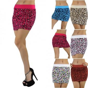 Cheetah Print Soft Knit Stretch Skirt