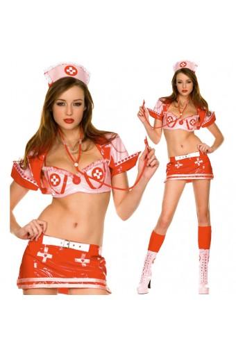 Sexy Flirty Fun Naughty Nurse Costume Including Stethoscope Costume Cosplay Halloween